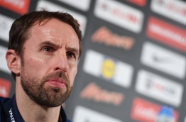 England's Manager Gareth Southgate addresses a press conference in Essen, western Germany, on March 21, 2017, on the eve of the friendly football match between Germany and England, whiich is also Lukas Podolski's last match with the German team. / AFP PHOTO / Patrik STOLLARZ