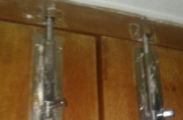 The locks on the doors of Raudha's hostel room: her family said there was no sign of forced entry. PHOTO/ATHIF MOHAMED