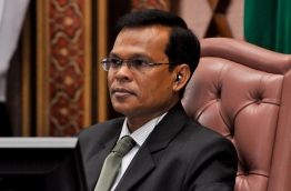 Parliament Speaker Abdulla Maseeh : This is third motion of no confidence against him. PHOTO:Parliament