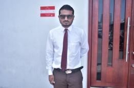 Local Journalist Mohamed Visam PHOTO:Nishan Ali/Mihaaru