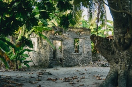 Abandoned coral stone hom in G.Dh. Rathafandhoo. PHOTO/AISHATH NAJ