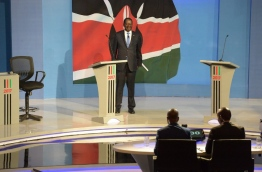 Opposition leader Raila Odinga is due to challenge Kenyan President Uhuru Kenyatta for the second time running. / AFP PHOTO / /SIMON MAINA / SIMON MAINA