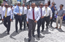 Opposition lawmakers pictured en route to Parliament on July 24, 2017. FILE PHOTO/MIHAARU