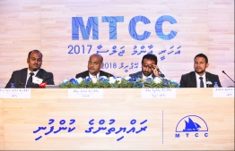 The 2017 Annual General Meeting (AGM) of Maldives Transport and Contracting Company (MTCC). PHOTO: HUSSAIN WAHEED/ MIHAARU