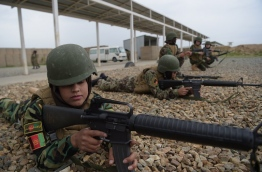 / AFP PHOTO / SHAH MARAI / TO GO WITH 'AFGHANISTAN-ARMY-CONFLICT', REPORTAGE BY Anne CHAON