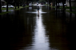Monster storm Harvey made landfall again Wednesday in Louisiana, evoking painful memories of Hurricane Katrina's deadly strike 12 years ago, as time was running out in Texas to find survivors in the raging floodwaters. / AFP PHOTO / Brendan Smialowski