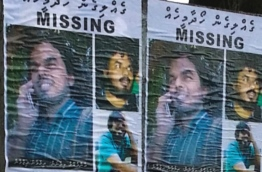 Posters put up by family and friends of missing journalist Ahmed Rilwan. PHOTO/MALDIVES INDEPENDENT