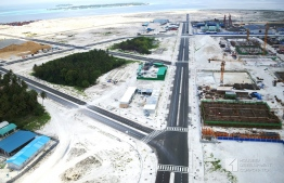 Aerial view of Hulhumale's Second Phase of development.