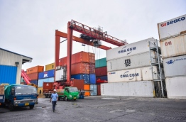 Cargo unloaded at Male Commercial Harbour. PHOTO/MIHAARU