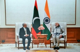 Dr.Asim (R), meeting with Indian Prime Minister Modi. PHOTO/FOREIGN MINISTRY
