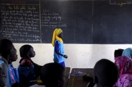 Education is a challenge in Senegal, and Dakar hosts from February 1, 2018 the third conference of reconstitution of funds of the Global Partnership for Education (GPE). The next day several heads of state, including the French president, sponsor of the meeting and Senegalese President. / AFP PHOTO / SEYLLOU