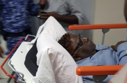 Supreme Court Judge Ali Hameed at the hospital --
