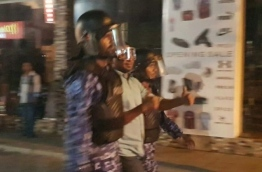 MP Mahloof being taken away from the rally by Police. PHOTO/SOCIAL MEDIA