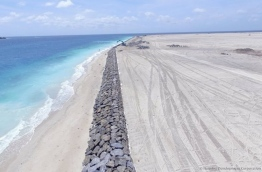 The reclaimed area under Hulhumale's second phase of development.