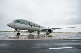 An aircraft of Qatar Airlines pictured in an airport. PHOTO/QATAR AIRWAYS