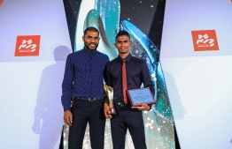 Paradise Island Resort, May 5, 2018: Former national goalkeeper Imran Mohamed (L) and athlete Hassan Saaid. PHOTO/IMAGES.MV