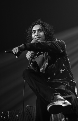 "Olympus, May 8, 2018: Ismail Affan speaks at the ceremony held to release his new album, ""Gen'bendhen"". PHOTO: NISHAN ALI/MIHAARU"