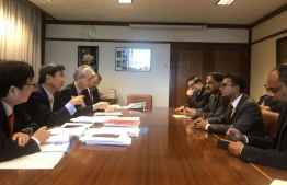 Finance Minister meeting with ADB officials. PHOTO/FINANCE MINISTRY