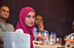 Hotel Jen, May 15, 2018: A journalist of The Edition pictured at the launching ceremony. PHOTO: NISHAN ALI