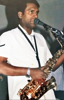 Fenthashi Khaleel performing on stage during his golden years. PHOTO: FAZEEL KHALEEL