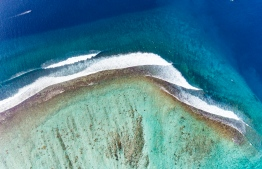 Aerial view of the surf break known as 'Tuckeys'. PHOTO: MICKEY NATTS