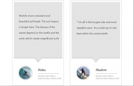 Quote by local surfers,  Nahu and Shadow. PHOTO (LEFT): UNKNOWN/NAHU, PHOTO (RIGHT): UNKNOWN/SHADOW.  IMAGE: SAFFU/EDITION