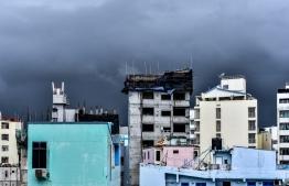 MET forecasts widespread rain all over Maldives. PHOTO: MIHAARU.