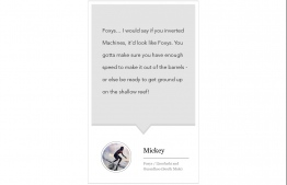 Surf guide and surfing tour operator Mickey Natts gives The Edition, his quote.  PHOTO: CRISTIANO MINICHIELLO. IMAGE: SAFFU