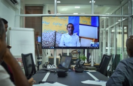 President Nasheed sits with Mihaaru News for a online interview. PHOTO: MIHAARU