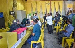 During MDP's presidential primary on May 30, 2018. PHOTO: NISHAN ALI/MIHAARU