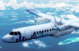 A digital drawing of an aircraft of the newly formed Manta Air, which is to begin domestic operations in October 2018. IMAGE/MANTA AIR