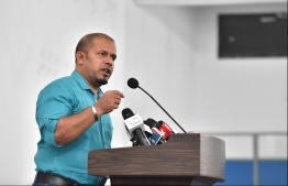 Elections Commission's chief Ahmed Shareef. PHOTO/MIHAARU