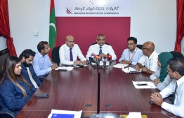 A press conference by Maldives Broadcasting Commission (Broadcom)
