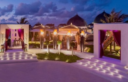 Holiday celebration in a Maldivian resort. PHOTO/JUMEIRAH