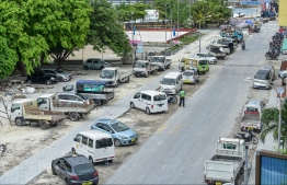 The eastern stretch of Male City's ring road during development. PHOTO/MIHAARU