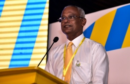 MDP parliamentary group leader and current presidential candidate MP Ibrahim Mohamed Solih (Ibu)