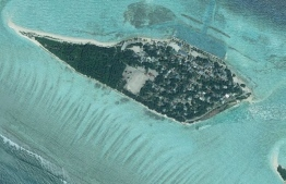 Aerial view of Fenfushi, Alifu Dhaalu Atoll. PHOTO: GOOGLE MAPS
