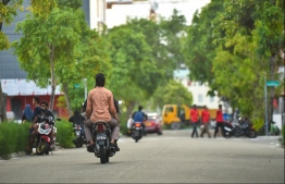 A road in reclaimed suburb Hulhumale'. PHOTO: MIHAARU