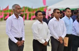 President Yameen visits Kandoodhoo-Thaa atoll- Minister Thoriq Ibrahim-Minister Mohamed Muizzu