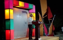 PRESIDENTIAL ELECTION 2018 / MDP OPPOSITION CANDIDATE IBU SOLIH AT HD,KUHUDHOOFUSHI