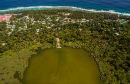 An aerial view of Dhadimagi Kilhi in Fuvahmulah. PHOTO: VILU PHOTOGRAPHY