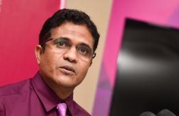 Parliamentary leader for Progressive Party Maldives Ahmed Nihan. PHOTO: MIHAARU