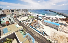 Male City, August 27, 2018: Final stages of preparation as Maldives gears up to unveil the landmark Sinamale Bridge. PHOTO: HUSSAIN WAHEED/MIHAARU