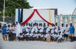 Participants of the first ever Soneva Surf Pro held at B.Goidhoo. PHOTO/SONEVA FUSHI