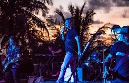 Jimmy Barnes performs live at Kandooma Maldives. PHOTO/HOLIDAY INN KANDOOMA