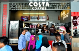 Costa Coffee at VIA's new waterfront complex. PHOTO: AHMED NISHAATH/MIHAARU