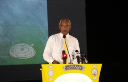 Opposition coalition presidential candidate and main opposition Maldivian Democratic Party (MDP) parliamentary group leader Ibrahim Mohamed Solih (Ibu)