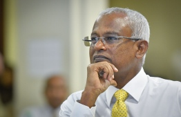 President-Elect Ibrahim Mohamed Solih at the MDP National Council meeting held post the Presidential Election 2018. PHOTO: NISHAN ALI/MIHAARU