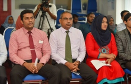Some of the heads of Human Rights Commission of the Maldives. PHOTO: MIHAARU