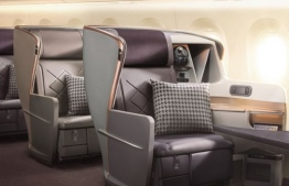 Singapore Airlines only offers premium economy and business seats on the flight -- no regular economy seats. PHOTO: SINGAPORE AIRLINES / MIHAARU